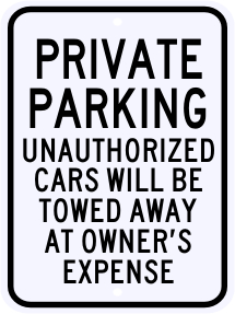 Private Parking Violation Sign 18 x 24