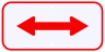Red 2 Way Directional Arrow Advisory Sign Plaque