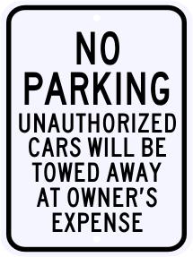No Parking Sign 18 x 24