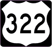 M1-4 Customizable U.S. Highway Route Shield - 3 Digit Number