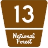 M1-7 Customizable National Forest Route Marker - 1 or 2 Digit Number
