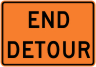 End Detour Construction Sign