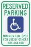 Nevada State Specified Disabled Parking Sign