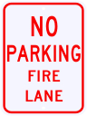 No Parking Fire Lane Sign 18 x 24