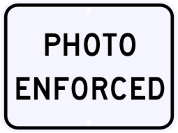 Photo Enforced Sign