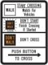 Pedestrian Traffic Signal Sign Walk/Don't Walk