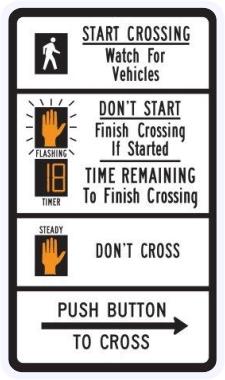 Pedestrian Traffic Signal Countdown Sign