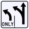 Advance Intersection 2 Lane Control Sign