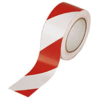 "2"" x 10yd Red/White Reflective Warning Stripe Tape"