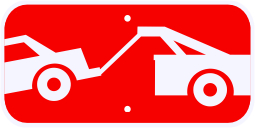 Tow Away Zone Symbol Advisory Plaque