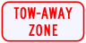 Tow Away Zone Advisory Sign Plaque
