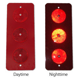 Type II Style Red Reflective Button Object Marker