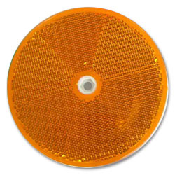 3 Inch Round Amber Reflector/Delineator