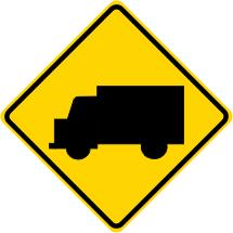 Truck Crossing Symbol Warning Sign