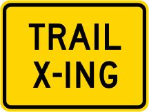 Trail Crossing Advisory Plaque