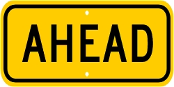 AHEAD Advisory Plaque For Bicycle/Pedestrian Signs