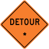 "Detour - ""Add A Line""  Construction Sign"