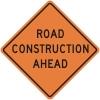 Road Construction Ahead Construction Sign