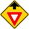 Yield Ahead Symbol Roadway Warning Sign
