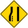 Merge Right Symbol Warning Sign