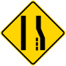 Merge Left Symbol Warning Sign