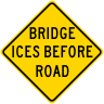 Bridge Ices Before Road Warning Sign